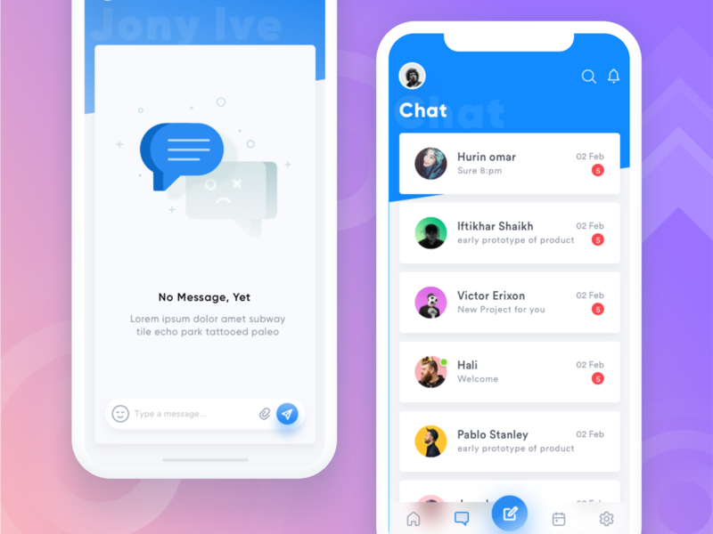 💬Chat - Property app rent sell buy house home illustrator iconography notification emoji chat typography gradient empty states ui design icon design mobile web inspiration ui ux app illustration