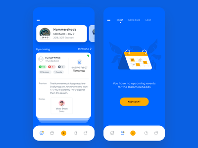 Team management app mobile ml ai machine learning inspirations state page empty page space enterprise icon icons b2b ux sport tab nav bar graphic app management user interface ios dashboard event branding empty states inspiration illustration design