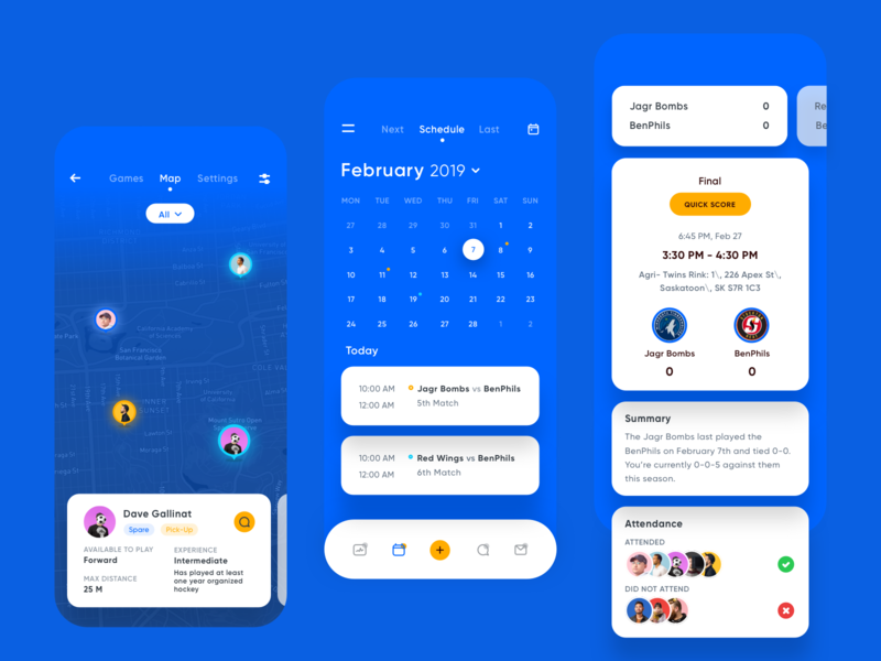 Team management iOS App illustration admin typography meeting event android team navigation management sport ios icons gradient card calendar minimal web ui ux design mobile inspiration