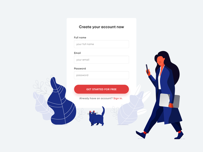 Meribook Signup experience interface user website graphic mobile people character page login sign up vector empty states crm saas landing page web design inspiration illustration