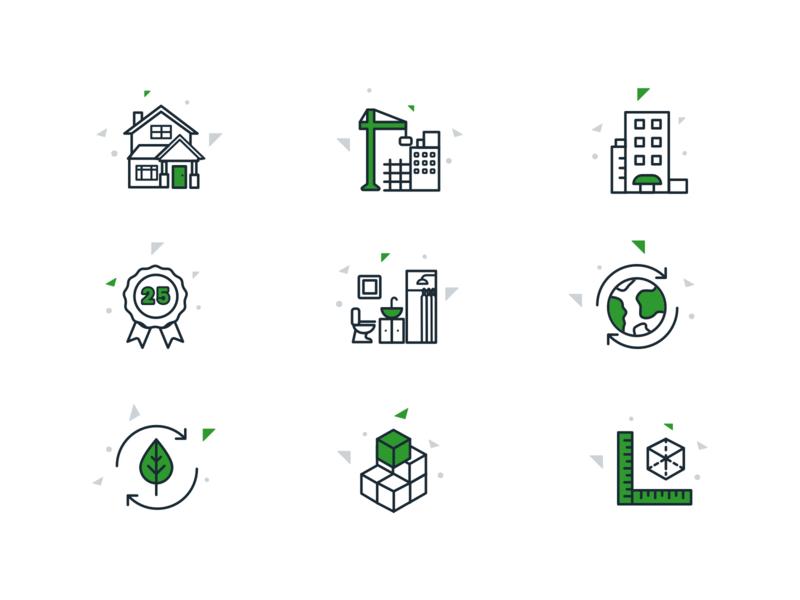 Blockdym Icons icon set cohesive property hotel iconography inspiration realestate modular design icon