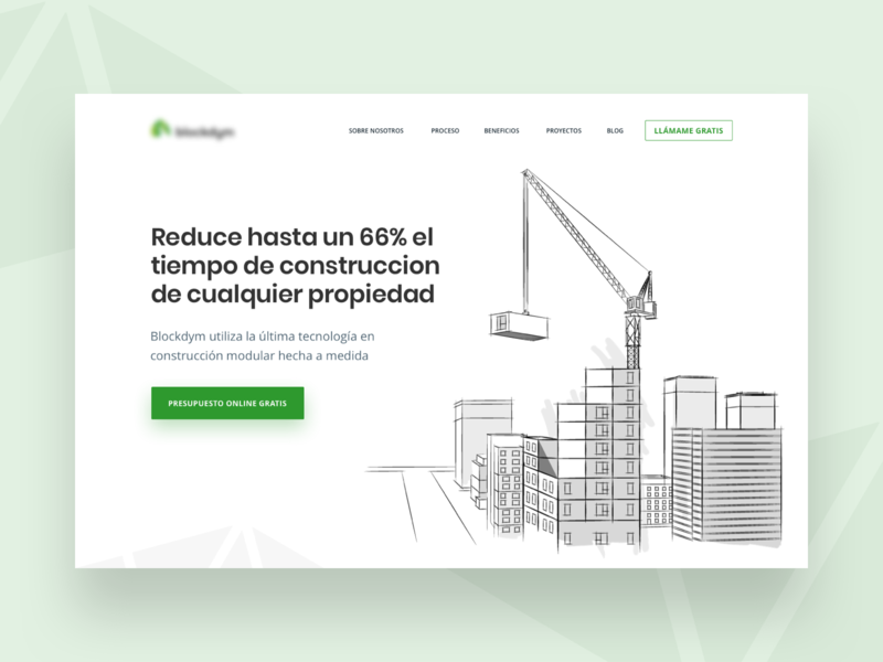 Blockdym - Website project product startup modular construction property minimal ui design illustration web website