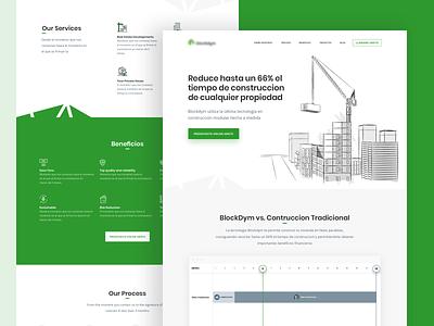 🏠Blockdym property modular project ui website web illustration design