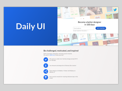Daily UI #100 – Redesign Daily UI Landing Page
