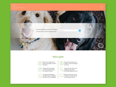 """Animal Sharing Platform """"Ein Tier für zwei"""" – Website Design"""