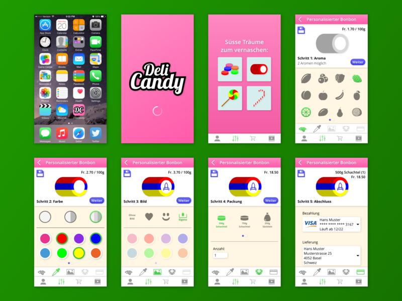 Candy Configurator (App Concept) app prototype ui ux design app design app candy candy configurator configurator