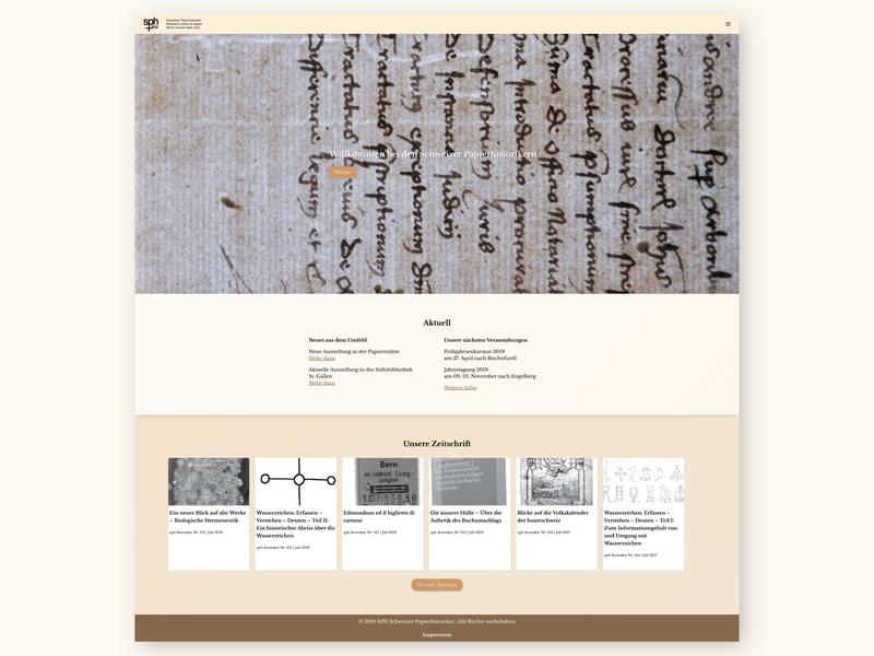 Swiss Paper Historians – Website user interface webdesign ui ux design ux design ui design ui ux