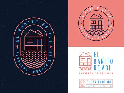 El Bañito De Abi - Logo design puerto rico travel tropical badge badge logo branding design logo