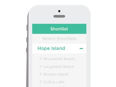 Rekke Shortlist rekke shortlist flat clean minimal ui iphone app