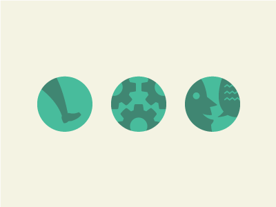 illustrated Icons icons flat minimal clean walk walkthrough cogs comments talk customers how features