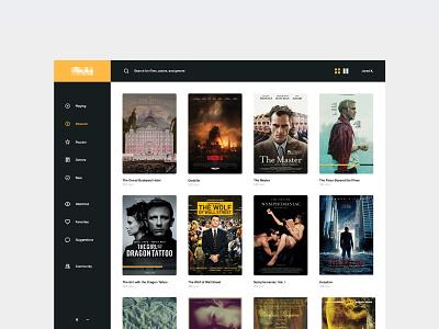 Video App - Dashboard ux menu admin web app movie flat ui dashboard user interface feed navigation ui icons