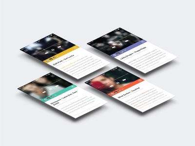 Social music blogging app blog music social app user interface user experience ui ux flat clean blogging ios