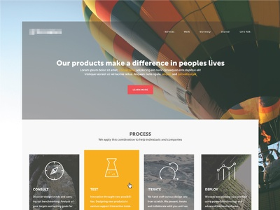 Landing Page WIP landing page icons web design icon compass science iterate deploy scale startup