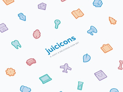 Juicicons, a juicy and delicious icon set