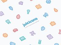 Juicicons, a juicy and delicious icon set