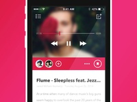 Music Blogging App V1 app iphone music blog blogging interface ios free download