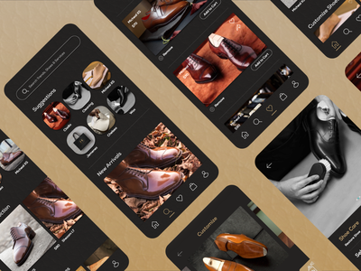 Rhoncus Mobile App minimal app design shopping ux ui shoe app luxury brand