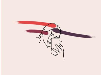 Vector illustration of a girl - Greta.