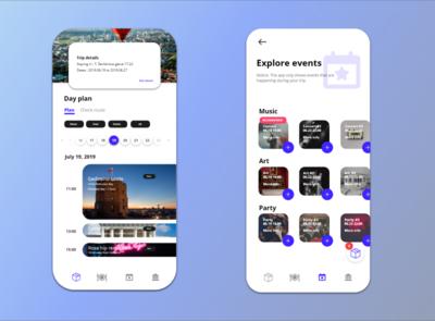 Explore Vilnius application screens.