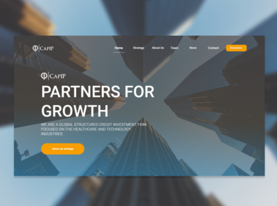 Landing page for investment company website contest.