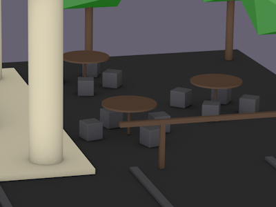 Primitive modelling restaurant sitting area school of motion 3d modelling modelling cinema4d c4d