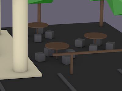 Primitive modelling restaurant sitting area school of motion 3d modelling modelling cinema4d c4d