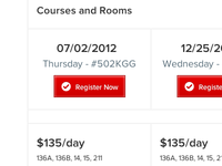 Courses and Rooms