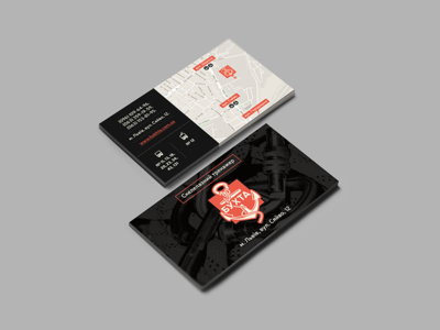 Climbing stand' business cards