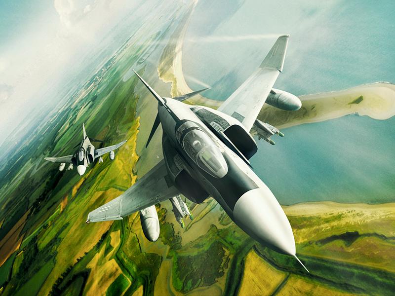 McDonnell Douglas F-4 Phantom II collage bomber fighter interceptor 3d plane aircraft f4 phantom