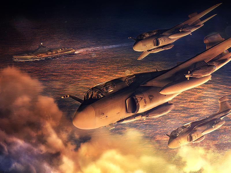 Grumman Prowler EA 6B aircraft prowler ea-6b attack aircraft electronic warfare