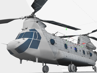CH-47 Chinook in Cinema 4D