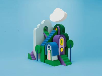 More houses design sculpture illustration paperart papercraft home hiuse
