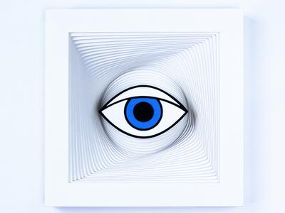 Haptic vision perception eye illustration paper design paperart deleuze tactile design philosophy art theory haptic