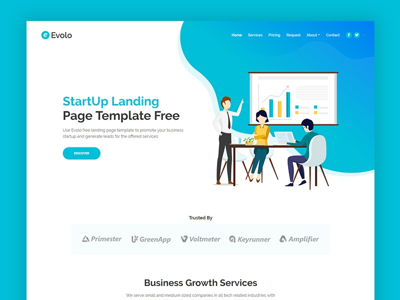 free html landing page with contact form