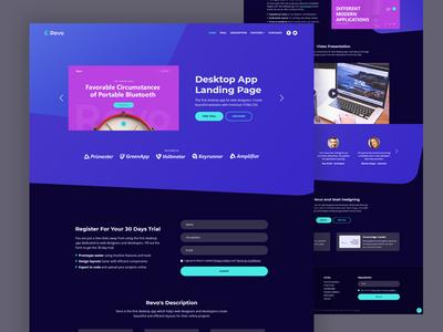 Revo - Desktop App HTML Landing Page Template