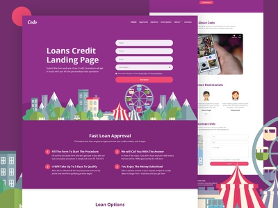 Cedo - Loans Credit Landing Page HTML Template loan quote responsive personal student loan debt services bootstrap html template landing page finance money microfinance credit loans