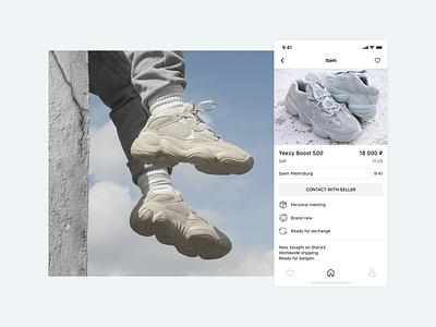themarket app minimalism shop marketplace flat app ux ui design