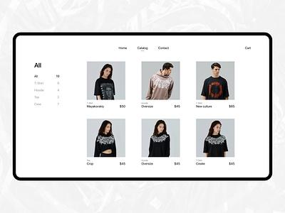 Pokras Lampas Shop website flat design minimalism pokraslampas market shop ux ui web