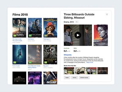 Movies Viewer | Yandex bright clean ipad tablet viewer cinema films yandex website banner web ux ui minimalism flat design