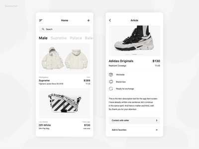 Articles Feed | themarket article page feed articles article feed clothes clean ios banner web shop ux ui minimalism flat design market marketplace commerce themarket