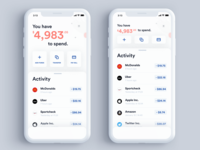 UI | Banking App (Home Screen)