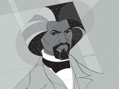 Frederick Douglass 01 afro geometric vector art 2019 month history black douglass frederick donavonmadethat donavon brutus