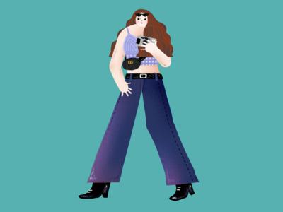 Sexy Purple Girl