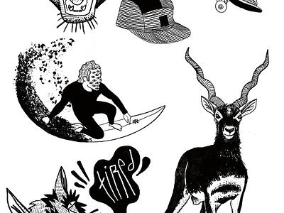 Black drawings digital painting illustration art procreate ipadproart surfing tattoo art blackwork art ipadpro graphic art illustration