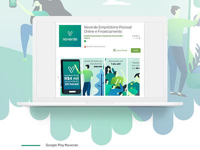 Google Play / Noverde graphic design noverde character design illustration design ui screendesign screen googleplay
