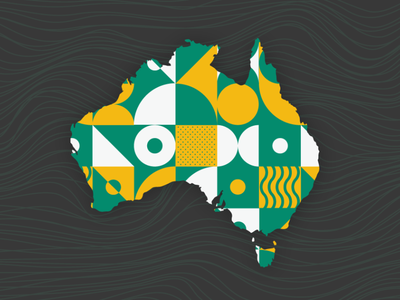 TB Australia graphic australia art illustrator minimal flat illustration vector graphic design design branding