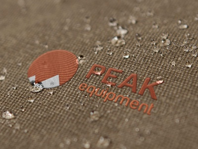 Peak Equipment typography graphic design backpack lifestyle branding design embroidery badge outdoor mockup logo design branding
