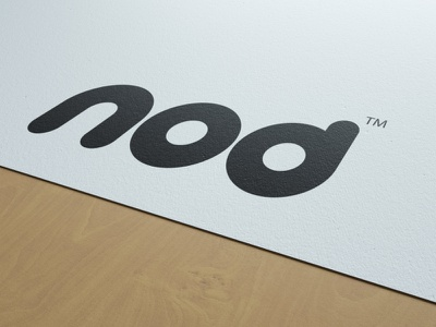nod clean simple clean interface simple circular friendly round printed identity nod paper typography brand identity illustration flat mockup minimal logo graphic design design branding