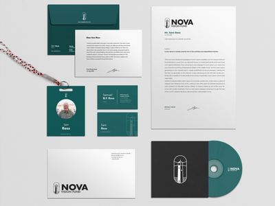 Nova Vision Fund Corporate Identity nova scotia nova brand stationery package charity simple flat clean brand identity identity mockup minimal logo graphic design design branding