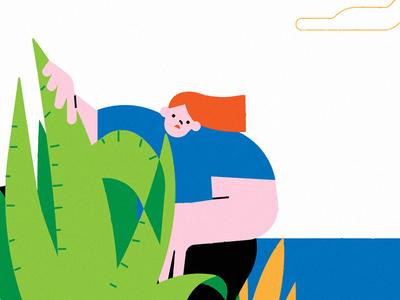 oi hide cactus landscape design portfolio portrait website illustration